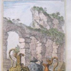 Arte: VASIJAS ROMANAS I, 1679. SANDRART. Lote 131075948