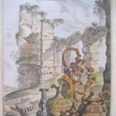 Arte: VASIJAS ROMANAS II, 1679. SANDRART. Lote 131075976