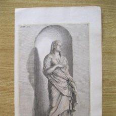 Arte: ESTATUA ROMANA DE SIBYLA, 1679. SANDRART. Lote 131076028