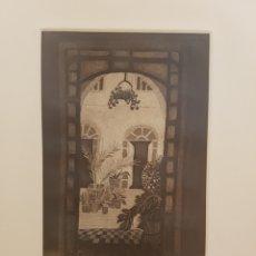 Arte: LOUISE WAUGH, GRABADO, AGUATINTA ORIGINAL, FIRMADO Y NÚMERADO. 203/350. ENMARCADO. AÑO 1977. Lote 131099844