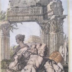 Arte: RUINAS DE ROMA, 1679. SANDRART. Lote 131135520
