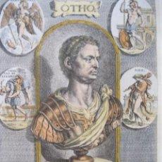 Arte: RETRATO DEL EMPERADOR ROMANO OTÓN, 1679. SANDRART. Lote 131135668