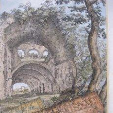 Arte: OBJETOS Y RUINAS ROMANAS, 1679. SANDRART. Lote 131135752