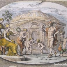 Arte: ESCENAS DEL DIOS ROMANO MERCURIO, 1679. SANDRART. Lote 131135768