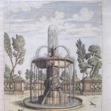 Arte: VISTA DE LA FUENTE DE LA VILLA PAMPHILI EN ROMA ( ITALIA )1679. SANDRART. Lote 131135828