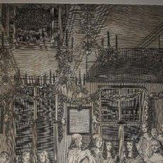 Arte: MAGNÍFICO GRABADO ¨EL BANQUETE DE CARLOS II¨ LA HAYA, 1660, ORIGINAL, 49,5 X 40 CM.. Lote 131223132