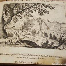 Arte: GRABADO AL COBRE. SIGLO XVIII. LA MUERTE DE ABEL. Lote 131384494