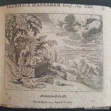 Arte: GRABADO AL COBRE. SIGLO XVIII. EL SACRIFICIO DE ABRAHAM. Lote 131387018