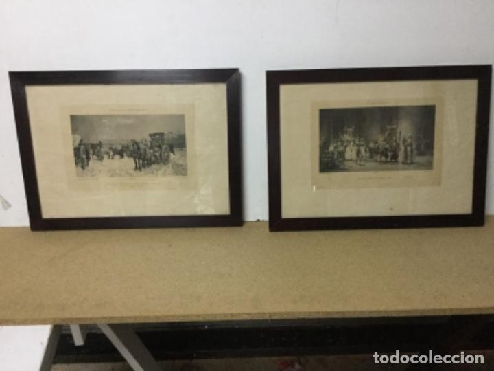 LOTE 2 GRABADOS .PRINCIPIOS S.XX, TEMÁTICA FRANCESA, (Arte - Grabados - Contemporáneos siglo XX)