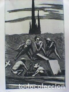AGUAFUERTE DE GIL MORENO DE MORA - FIRMADO Y NUMERADO A MANO (Arte - Grabados - Contemporáneos siglo XX)
