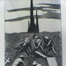 Arte: AGUAFUERTE DE GIL MORENO DE MORA - FIRMADO Y NUMERADO A MANO. Lote 131700622