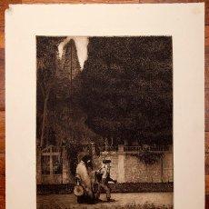 Arte: RICARDO BAROJA (1871 – 1953) - AGUAFUERTE FIRMADO - 1910. Lote 132193178