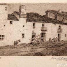 Arte: RICARDO BAROJA (1871 – 1953) - AGUAFUERTE FIRMADO - 1909. Lote 132193418