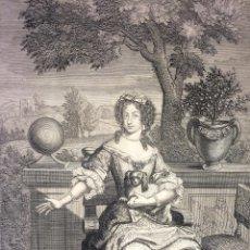 Arte: PORTRAIT DE M. LA DAUPHINE. GRABADO. NICOLAS HABERT. FRANCIA. CIRCA 1680. Lote 132308770
