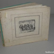 Arte: RARO ALBUM CON 50 AGUAFUERTES DE FINALES DEL SIGLO XVIII, VIDA COTIDIANA, PROFESIONES, BAILE, ETC. Lote 180475521