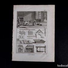 Arte: SOLADOR. ENCICLOPEDIA DIDEROT DE LAS CIENCIAS, LAS ARTES Y LOS OFICIOS 1783. Lote 132422574