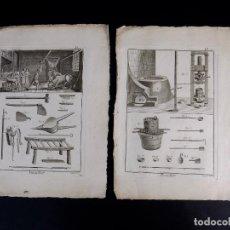 Arte: CARNICERIA 2 GRABADOS. ENCICLOPEDIA DIDEROT DE LAS CIENCIAS, LAS ARTES Y LOS OFICIOS 1783. Lote 132423654
