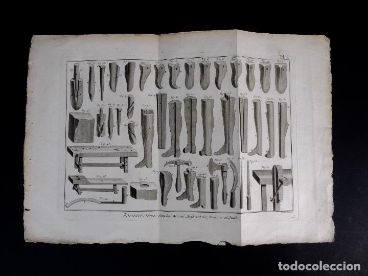 CARPINTERIA 3 GRABADOS. ENCICLOPEDIA DIDEROT DE LAS CIENCIAS, LAS ARTES Y LOS OFICIOS 1783 (Arte - Grabados - Antiguos hasta el siglo XVIII)