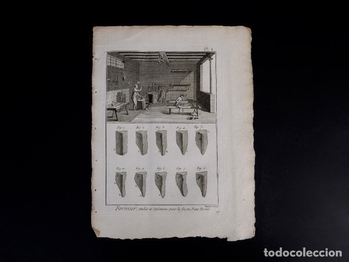 Arte: CARPINTERIA 3 GRABADOS. ENCICLOPEDIA DIDEROT DE LAS CIENCIAS, LAS ARTES Y LOS OFICIOS 1783 - Foto 3 - 132424646