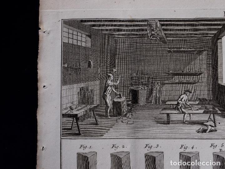 Arte: CARPINTERIA 3 GRABADOS. ENCICLOPEDIA DIDEROT DE LAS CIENCIAS, LAS ARTES Y LOS OFICIOS 1783 - Foto 4 - 132424646