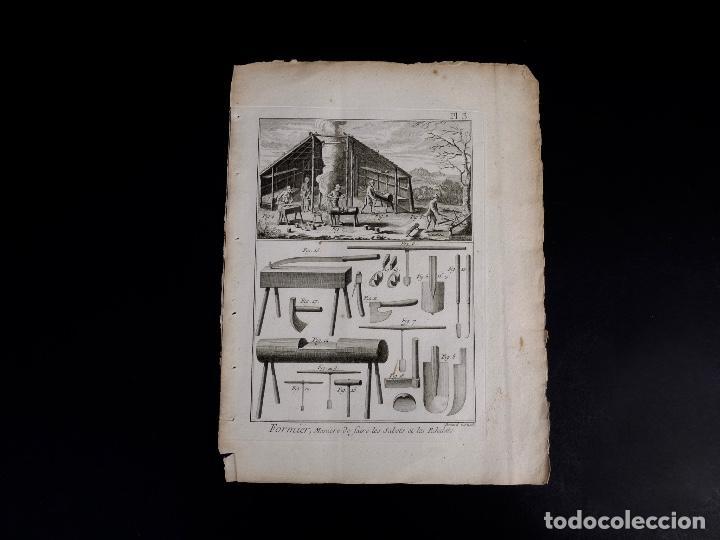 Arte: CARPINTERIA 3 GRABADOS. ENCICLOPEDIA DIDEROT DE LAS CIENCIAS, LAS ARTES Y LOS OFICIOS 1783 - Foto 6 - 132424646