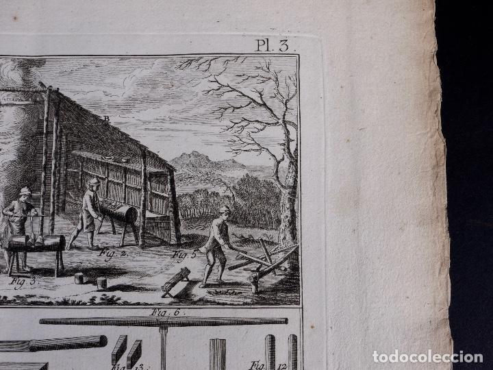 Arte: CARPINTERIA 3 GRABADOS. ENCICLOPEDIA DIDEROT DE LAS CIENCIAS, LAS ARTES Y LOS OFICIOS 1783 - Foto 7 - 132424646