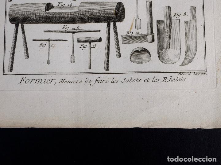 Arte: CARPINTERIA 3 GRABADOS. ENCICLOPEDIA DIDEROT DE LAS CIENCIAS, LAS ARTES Y LOS OFICIOS 1783 - Foto 8 - 132424646