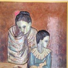 Arte: MADONA Y ARLEQUÍN 1980 - ENMARCADO -. Lote 132686846