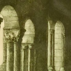 Arte: CLAUSTRO COLEGIATA DE SANTILLANA - A. FOLGUERAS ( 1913/1982 OVIEDO). Lote 132706374