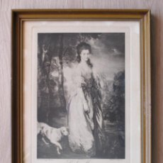Arte: LADY MEARS F. MELICH ENGRAVER / GAINGSBROUHG PAINTER. Lote 132760726