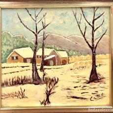 Arte: CUADRO ESMALTADO 1980 - ENMARCADO -. Lote 132780442
