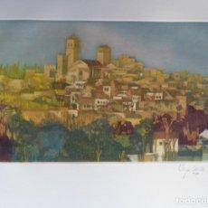 Arte: JOSÉ VEGA OSORIO OSSORIO (MÉRIDA, BADAJOZ, 1945) GRABADO 11 COLORES DE TRUJILLO, FIRMADO Y 140/200. Lote 47917988