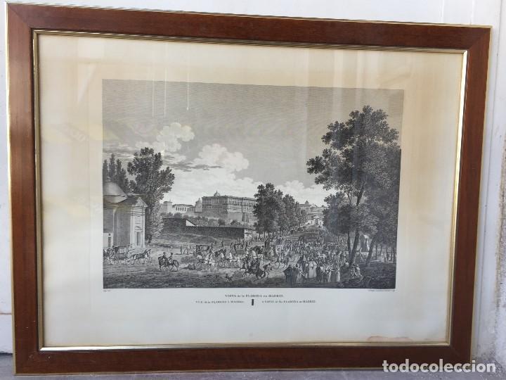 GABADO VISTA PASEO LA FLORIDA MADRID LEROUGE GOSSARDET SHOROEDER TIRADA S XX DE GRABADO S XVIII (Arte - Grabados - Contemporáneos siglo XX)