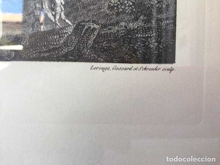 Arte: gabado vista paseo la florida Madrid lerouge gossardet Shoroeder tirada s XX de grabado s XVIII - Foto 5 - 132886226