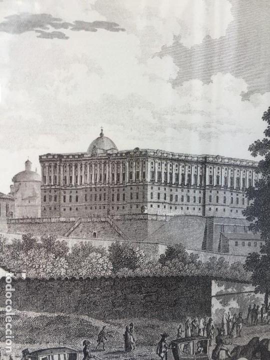 Arte: gabado vista paseo la florida Madrid lerouge gossardet Shoroeder tirada s XX de grabado s XVIII - Foto 7 - 132886226