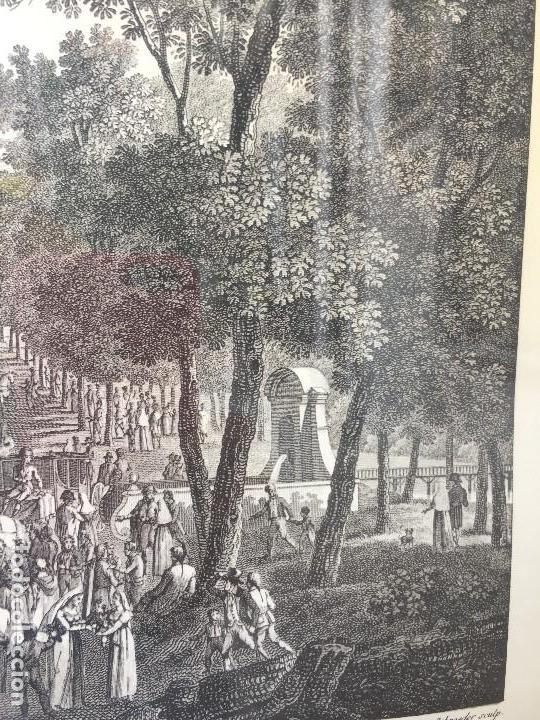 Arte: gabado vista paseo la florida Madrid lerouge gossardet Shoroeder tirada s XX de grabado s XVIII - Foto 9 - 132886226