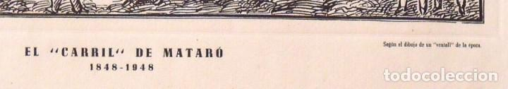 Arte: Grabado: El carril de Mataró 1848-1948. Ediciones gráficas Millà. 1948. 36X51 cm. Tren. Ferrocarril. - Foto 3 - 132889554