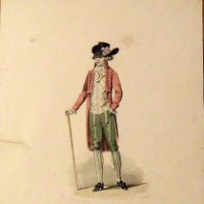 Arte: FRANÇOIS CLAUDIUS COMPTE CALIX. GRABADO CABALLERO ELEGANTE. SIGLO XIX. E. BRACQUEL. 29X22 CM.. Lote 132916266
