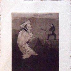 Arte: MARIANO CASTILLO. GRABADO GOYESCO TÓCAME ALGO. 1990. 5/25. FIRMADO A MANO. AGUAFUERTE Y AGUATINTA.. Lote 132917230
