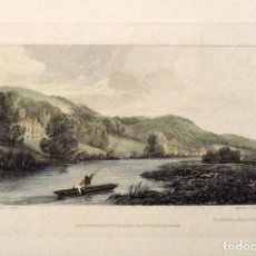 Arte: SAMUEL OWEN. GRABADO COLOREADO THE GROTTO HOUSE. BASILDON PARK. GRABADO W. COOKE. 1810. 19X27 CM.. Lote 132917730