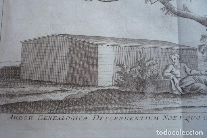 Arte: AÑO 1766. ARBOR GENEALOGICA DESCENDENTIUM NOE E QUO OMNES MUNDI NATIONES POST DILUVIUM ORTAE SUNT... - Foto 2 - 132951258