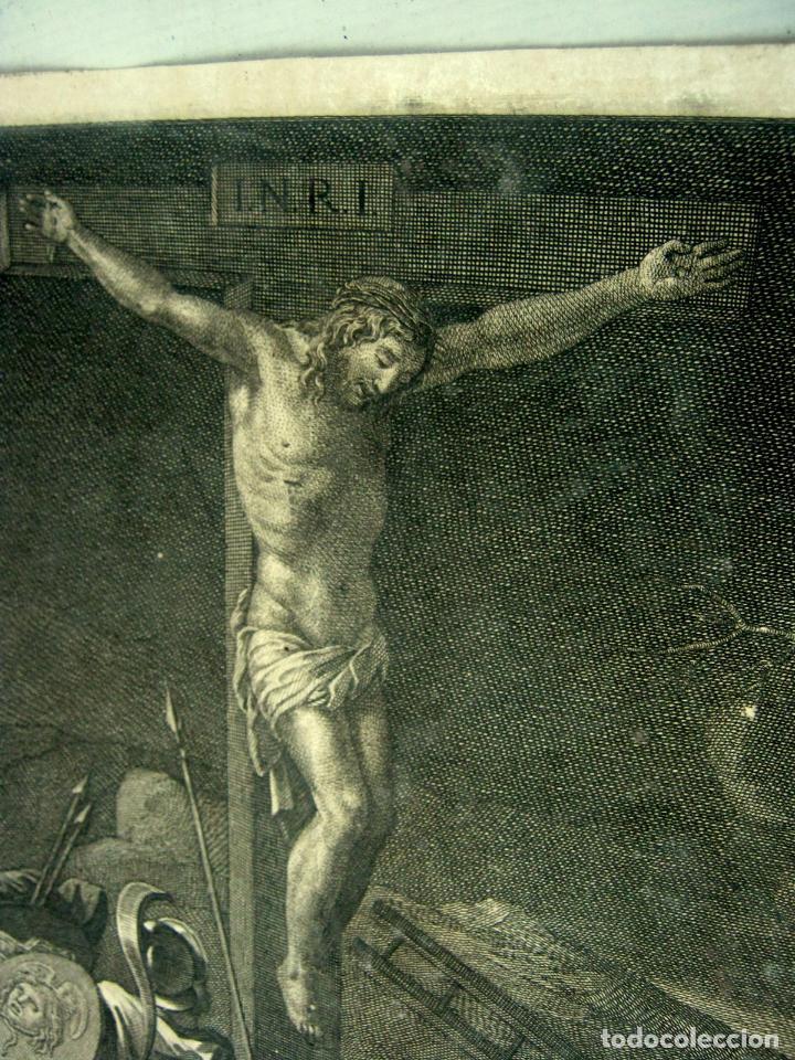 Arte: 60 CM - Impresionante Grabado Florencia s. XVI XVII - Crucifixion Nuestro Señor Jesucristo - Foto 2 - 133037078