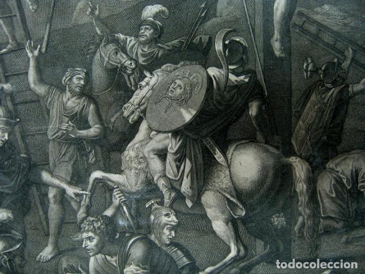 Arte: 60 CM - Impresionante Grabado Florencia s. XVI XVII - Crucifixion Nuestro Señor Jesucristo - Foto 4 - 133037078
