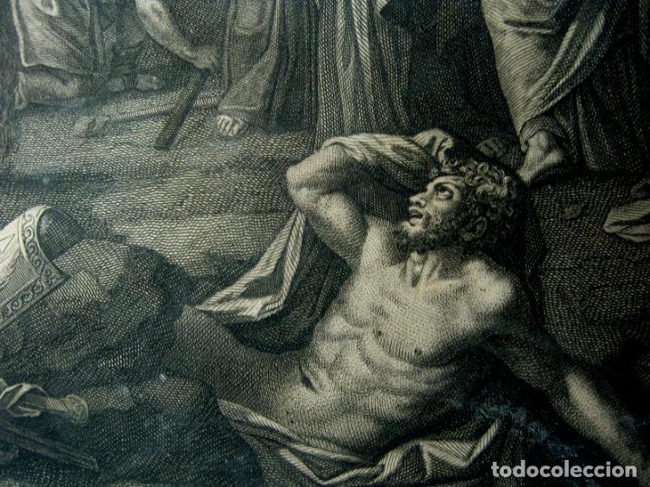 Arte: 60 CM - Impresionante Grabado Florencia s. XVI XVII - Crucifixion Nuestro Señor Jesucristo - Foto 5 - 133037078