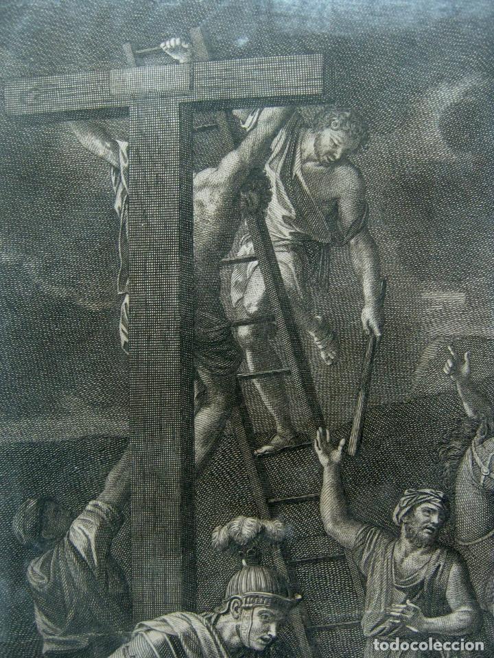 Arte: 60 CM - Impresionante Grabado Florencia s. XVI XVII - Crucifixion Nuestro Señor Jesucristo - Foto 7 - 133037078