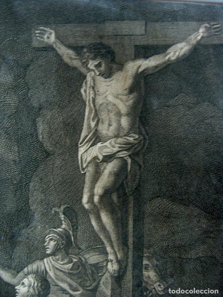 Arte: 60 CM - Impresionante Grabado Florencia s. XVI XVII - Crucifixion Nuestro Señor Jesucristo - Foto 8 - 133037078