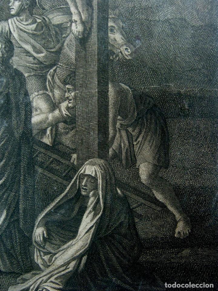 Arte: 60 CM - Impresionante Grabado Florencia s. XVI XVII - Crucifixion Nuestro Señor Jesucristo - Foto 10 - 133037078
