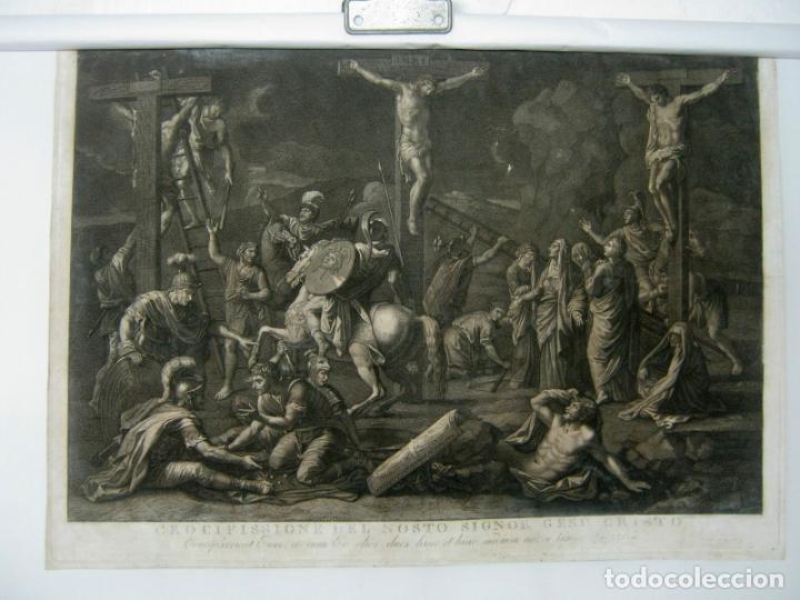 Arte: 60 CM - Impresionante Grabado Florencia s. XVI XVII - Crucifixion Nuestro Señor Jesucristo - Foto 16 - 133037078