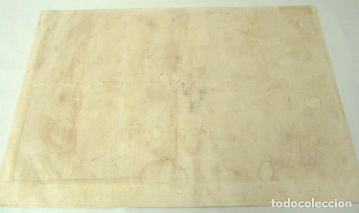 Arte: 60 CM - Impresionante Grabado Florencia s. XVI XVII - Crucifixion Nuestro Señor Jesucristo - Foto 17 - 133037078