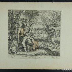 Arte: GRABADO DE NICOLAS CHAPERON ESCENA BÍBLICA SIGLO XVII. Lote 133463058